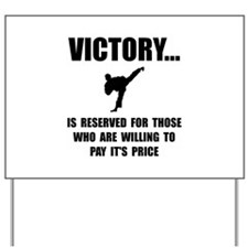 Victory Martial Arts Yard Sign
