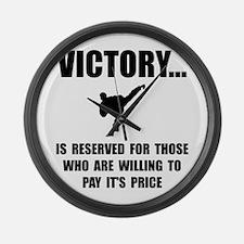 Victory Martial Arts Large Wall Clock