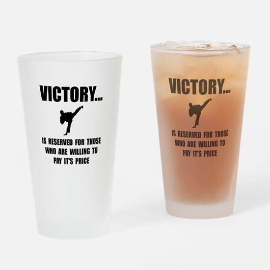 Victory Martial Arts Drinking Glass