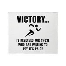 Victory Runner Throw Blanket