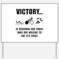 Victory Triathlon Yard Sign