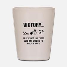 Victory Triathlon Shot Glass