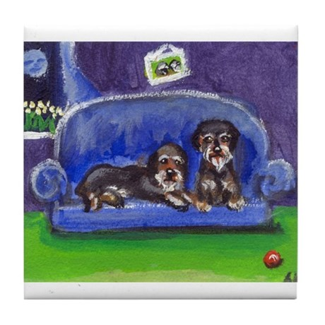 WIRE DOXIES share sofa Tile Coaster