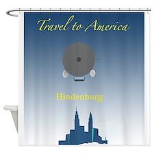 Hindenburg Zeppelin Shower Curtain