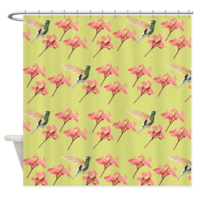 Hummingbird, Shower Curtain By Ornaartzi
