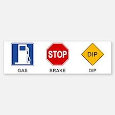 Gas Brake Dip II Bumper Car Car Sticker