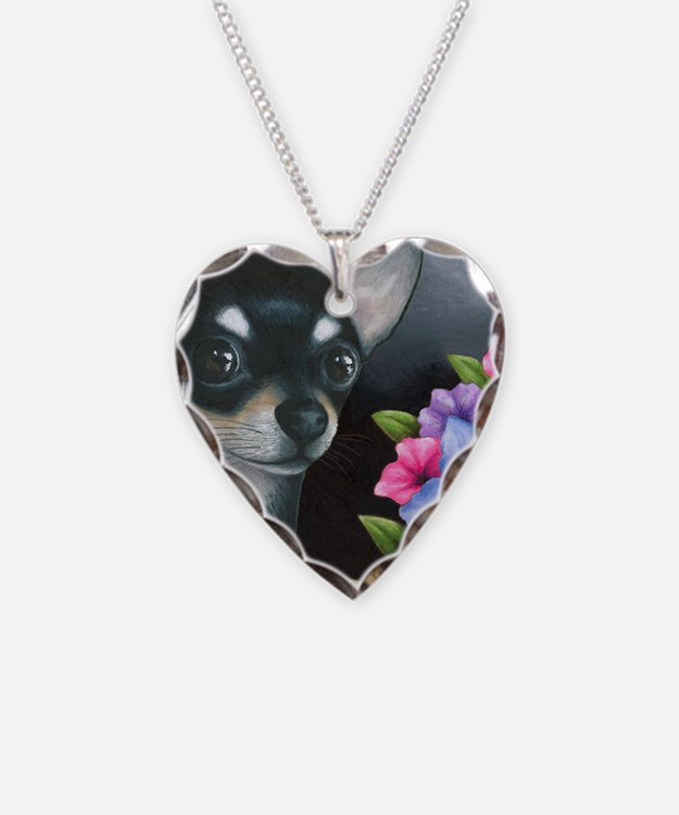 Dog 80 black Chihuahua Necklace