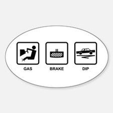 Gas Brake Dip Oval Decal
