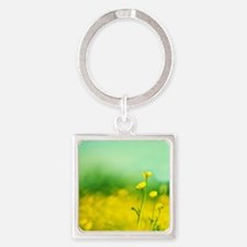 Smiling, Happy , Laughting Square Keychain