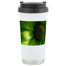 Green Daisy Travel Coffee Mug