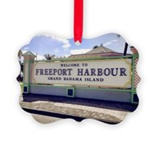 Freeport Harbour, Bahamas Ornament