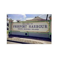 Freeport Harbour, Bahamas Rectangle Magnet