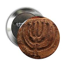 "Ancient Menorah 2.25"" Button"