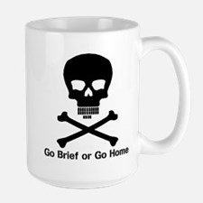 Go Brief Front Black Mugs