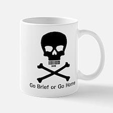 Go Brief Front Black Mugs