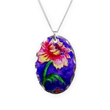 Watercolor flower Necklace