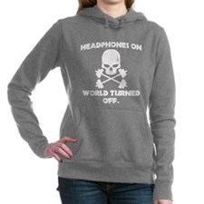 Headphones on Hooded Sweatshirt
