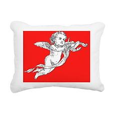 Red Valentine Cupid Rectangular Canvas Pillow