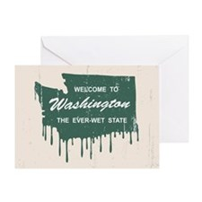 The Ever-Wet State Greeting Card