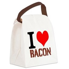 I Love Bacon Canvas Lunch Bag