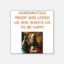 numismatics, Sticker
