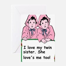 twins sister Greeting Cards