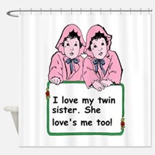 twins sister Shower Curtain