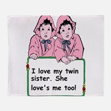 twins sister Throw Blanket