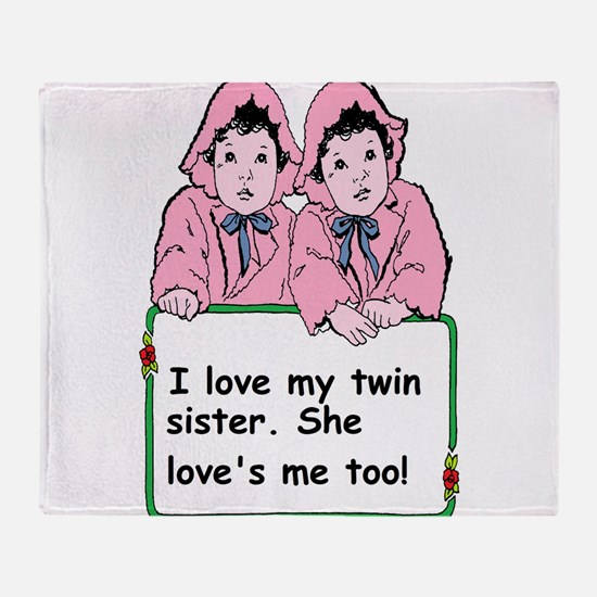 twins sister Throw Blanket