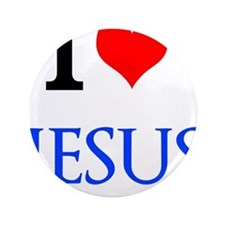 "I Love Jesus 3.5"" Button (100 pack)"