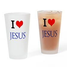 I Love Jesus Drinking Glass