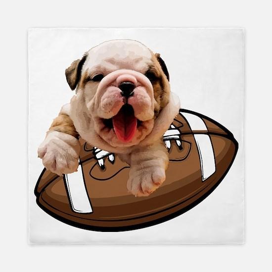 Cute Bulldog Queen Duvet