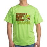 I like to Hug Myself Green T-Shirt