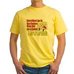 I like to Hug Myself Yellow T-Shirt