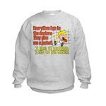 I like to Hug Myself Kids Sweatshirt