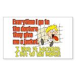 I like to Hug Myself Rectangle Sticker