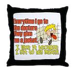 I like to Hug Myself Throw Pillow