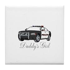 Daddys Girl Police Car Infant Bodysuit Tile Coaste