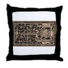 Sala Tumba de Pakal2 Throw Pillow