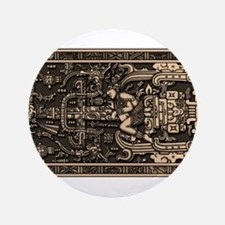 "Sala Tumba de Pakal2 3.5"" Button (100 pack)"