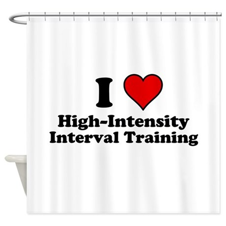 I Heart High-Intensity Interval Training Shower Cu