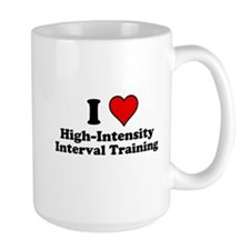 I Heart High-Intensity Interval Training Mugs