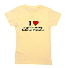 I Heart High-Intensity Interval Training Girl's Te