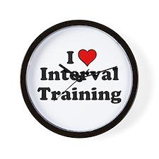 I Heart Interval Training Wall Clock
