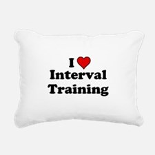 I Heart Interval Training Rectangular Canvas Pillo