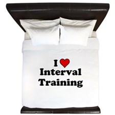 I Heart Interval Training King Duvet