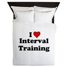 I Heart Interval Training Queen Duvet