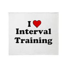 I Heart Interval Training Throw Blanket