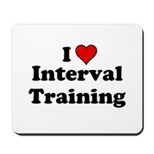 I Heart Interval Training Mousepad