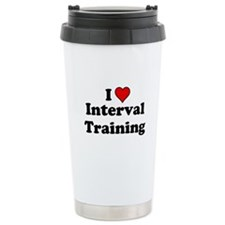 I Heart Interval Training Travel Mug